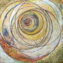 x Encaustic on wood 2005 Eleanor Schimmel Circle Art, Encaustic Artist, Artist Inspiration, Mandala Painting, Painting Inspiration, Wax Painting, Painting Media, Collage Art, Wax Art