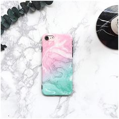 Pink & Green Marble iPhone 7 Case iPhone 7 Plus Case iPhone 6