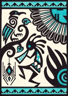 Mexican Art Tattoo Symbols Native American 45 New Ideas Native American Symbols, Native American Design, American Indian Art, Art Indien, Kunst Der Aborigines, Indian Symbols, Mayan Symbols, Illustration Tattoo, Mexican Art Tattoos