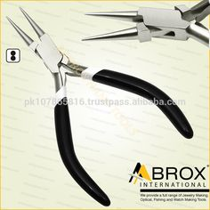 Model Number: AI-JP-1003, Round Nose Pliers Jewelery Making tools Jewelers Pliers, Features Box-Joint Construction. Double Leaf Springs. PVC Grip Handles. Size: 13 X 5.5 X 0.5cm (approximately). Weight: 76 gram (approximately). Large Axle to assure alignment while working, Not Cheap Like China This Plier is best for Bead Workers, Wire Wrap Artists, Traditional Jewellery Making, Beading and other fine Hobby Work.