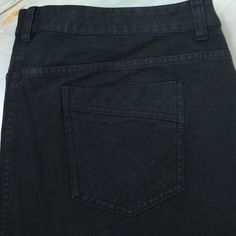 3 Chico's Black Jeans This is a Chico's size 3 pair of black jeans. They are in great overall condition, straight leg with no glitzy embellishments. Chico's Jeans Straight Leg
