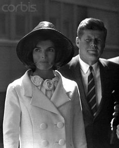 27 Mar 1963, Washington DC, United States --- President John F. Kennedy and Jacqueline Kennedy at Union Station following the departure of King Hassan of Morocco