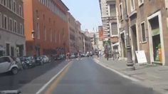 Driving On The Street in Rome, Italy To Piazza Novona #Rome #Italy #street #driving #taxi #tourism #travel