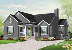 Détail du plan de Maison unifamiliale W3133