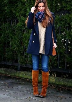 Cute outfit! Can't wait til its cool enough to wear my fav vintage Frye riding boots! Photo via Little Black Coconut via StyleList