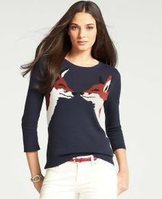 Kissing Fox Sweater | Ann Taylor