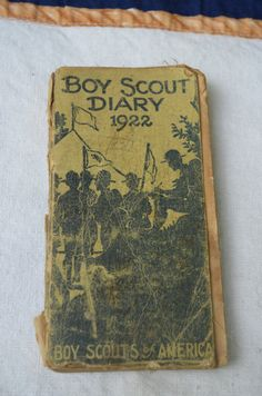 Boy Scout Diary 1922 Boy Scouts of America by bluefolkhome on Etsy