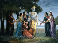 Krishna leaving Vrindavan to Mathura