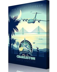"Share Squadron Posters for a 10% off coupon! Charleston AFB C-17 – ""The Pelicans"", 14th Airlift Squadron #http://www.pinterest.com/squadronposters/"
