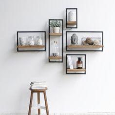 modern wooden wall shelves design ideas for living room 2019 Wooden Wall Shelves, Wall Shelves Design, Decorative Wall Shelves, Bedroom Wall Shelves, Wooden Shelf Design, Unique Wall Shelves, White Wall Shelves, Wall Design, Bathroom Shelf Decor
