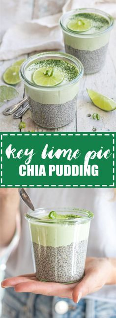 Choosingchia.com| This key lime pie chia pudding is like a key lime pie in a cup! It's also raw, vegan, and gluten-free!