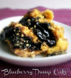 15 Ridiculously Easy Dump Cakes You Can Make in a Flash- Blueberry Dump Cake- This three-ingredient dump cake is bursting with fruity goodness. Get the full recipe at redbookmag.com.