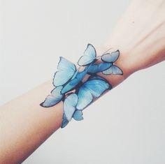Bridal bracelet with blue butterflies, blue wedding bracelet.- Bridal bracelet with blue butterflies, blue wedding bracelet, butterfly bracelet, blue butterly brid - Butterfly Bracelet, Butterfly Jewelry, Blue Butterfly, Butterfly Kisses, Monarch Butterfly, Butterflies, Bridesmaid Bracelet, Wedding Bracelet, Blue Bridal