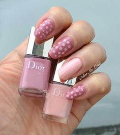 Manicure, Nails, Swatch, Dior, Polka Dots, Nail Polish, Make Up, Life Plan, Beige