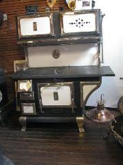 Mill Creek Antiques - Paxico, Kansas Combo wood & gas stove