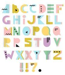 Typography Alphabet, Typography Fonts, Typography Design, Fonte Alphabet, 90s Design, Geometric Font, Journal Fonts, Pastel Designs, Graffiti Lettering