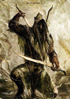 Concept art for a Silvan Elf in Mirkwood