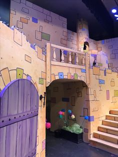A few more colorful  blocks were added.The final touches included orange glazing to highlight and define castle walls, and gems applied to stonework for sparkle! Once Upon a Mattress