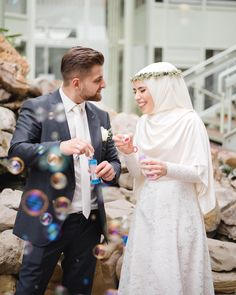 Muslim Wedding Gown, Muslimah Wedding Dress, Muslim Wedding Dresses, Hijab Bride, Muslim Brides, Wedding Hijab, Wedding Veils, Dream Wedding Dresses, Hijab Dress Party