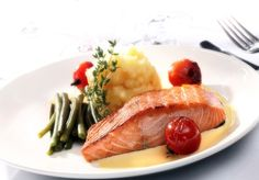 Salmon dish from the menu of Bisque Brasserie at BEST WESTERN PLUS Bruntsfield Hotel