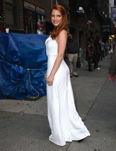 Jessica Chastain – 2014-10-16 – arriving at the 'Late Show with David Letterman' in New York (no. 3686)