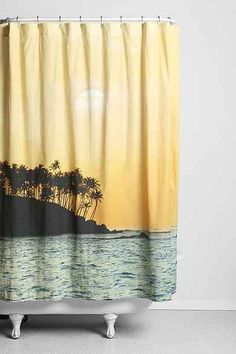 Magical Thinking Sunset Beach Shower Curtain