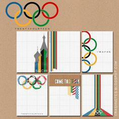 Free Sochi: 2014 Winter Olympics Journal Cards from crashnotes