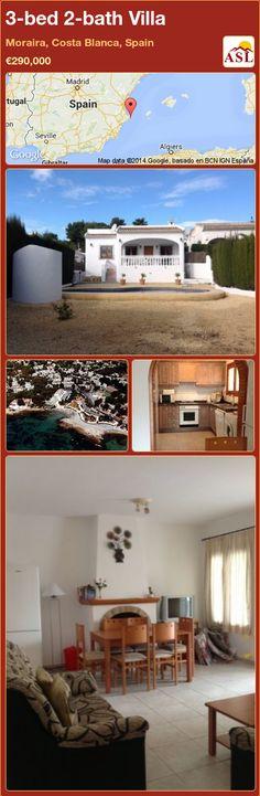 3-bed 2-bath Villa in Moraira, Costa Blanca, Spain ►€290,000 #PropertyForSaleInSpain