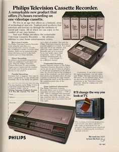 Gigantic Video Cassettes  I remember them costing THOUSANDS of dollars.  Do you remember the BETA??