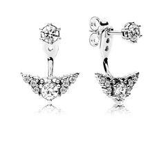 Fairytale Tiara Stud Earrings, Clear CZ