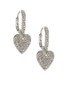 Jewellery & Accessories | Fashion Jewellery  | Heart Drop Pave Earrings | Hudson's Bay