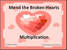 Here are 56 puzzles for your students to solve! Each page has 2 sets of broken heart pieces to put back together again as 2 whole hearts. Each heart (and of course, its pieces) have a multiplication fact written on it. As well as putting the pieces togeth