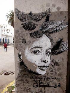 Casablanca street art, Marocco - Maroc Désert Expérience tours http://www.marocdesertexperience.com