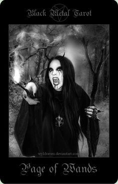 Black Metal Tarot 16 by wyldraven on DeviantArt