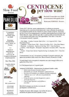 Slow Wine 2016, domani la presentazione a Pescara - L'Abruzzo è servito | Quotidiano di ricette e notizie d'AbruzzoL'Abruzzo è servito | Quotidiano di ricette e notizie d'Abruzzo