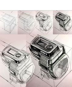 industrail design sketch amp marker rendering tutorial on behance - architectural sketching tutorial Portfolio Design, Industrial Interiors, Industrial Cafe, Industrial Windows, Industrial Bathroom, Industrial Closet, Industrial Bookshelf, Industrial Restaurant, Industrial Apartment
