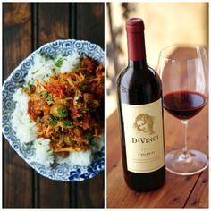 Slow Cooker Italian Shredded Pork paired with DaVinci Chianti. Perfect easy weeknight meal with wine.