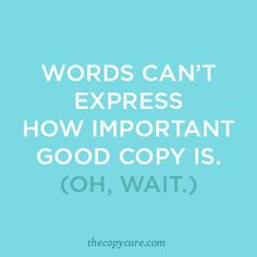 Words to live by courtesy of Marie Forleo & Laura Belgray #copycure   copy writing, marketing, advertising