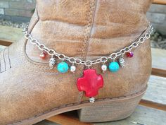 Boot Bracelet Boot Jewelry Boot Bling Red and by celticbubblewands, $15.00