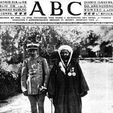 ABC Portada de ABC del 9 de julio de 1913. Ben Mizzian, junto a su padre, en la Academia de Toledo