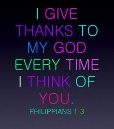 Philippians 1:3.