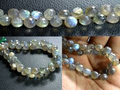 Labradorite onion faceted beads strands (Code-22\80).. #labradorite #labradoriteonionfacetedbeads