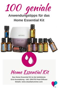 100 brilliant tips for the Home Essential Kit from .- The 100 most brilliant user tips for the Home Essential Kit – the natural medicine cabinet from doTERRA. Baby Health, Kids Health, Natural Medicine, Herbal Medicine, Home Essentials Kit Doterra, Petal Diffuser, Oil Diffuser, Citrus Lemon, Hair Cute