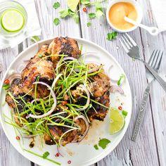 Lemongrass Grilled Chicken with Sriracha Mayo