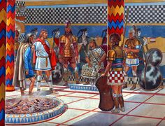 Achaean warlords and warriors in Thebes (about 1260 BC)
