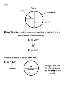 Calculate the circumference of a circle math school and gre math calculating circumference area of circles semicircles and quarter circles ccuart Images