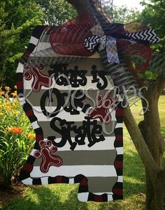 This is OUR state Mississippi State University door hanger - football door hanger on Etsy, $42.00
