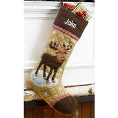 Cabin Series Christmas Stocking: Moose