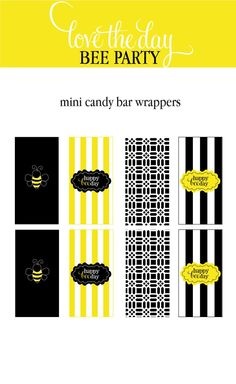 PRINTABLE CANDY WRAPPERS - Bee  Collection from Love The Day