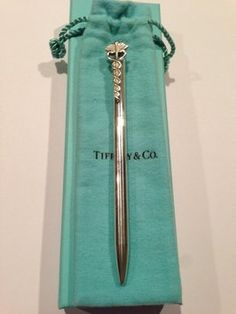 Tiffany & Co. Authentic TIFFANY & CO. Caduceus Clip Doctor Nurse Ballpoint Pen